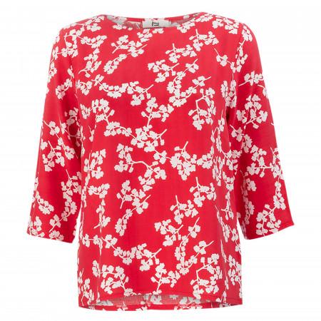 SALE %   8 days a week   Bluse - Loose Fit - 3/4-Arm   Rot online im Shop bei meinfischer.de kaufen