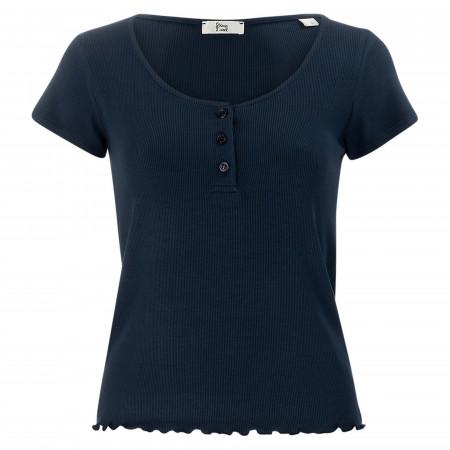 SALE %   8 days a week   T-Shirt - Regular Fit - unifarben   Blau online im Shop bei meinfischer.de kaufen