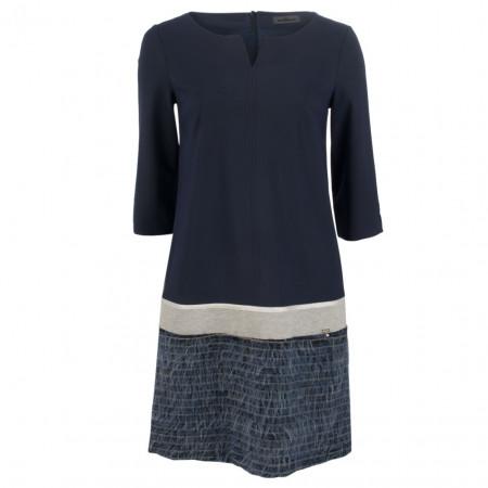 SALE % | Airfield | Kleid - Regular Fit - Appliaktion | Blau online im Shop bei meinfischer.de kaufen