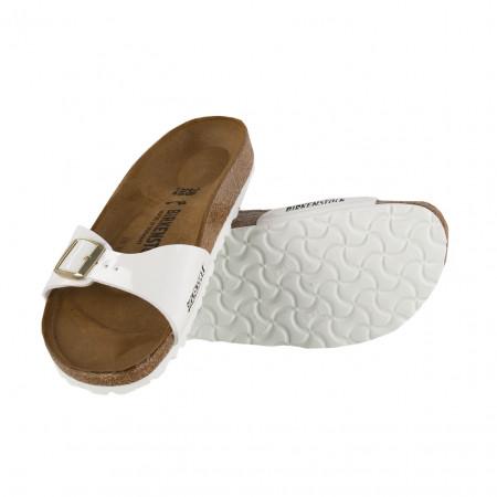 SALE % | Boss Casual | Sandale - Madrid  Birko-Flor - Leder | Weiß online im Shop bei meinfischer.de kaufen