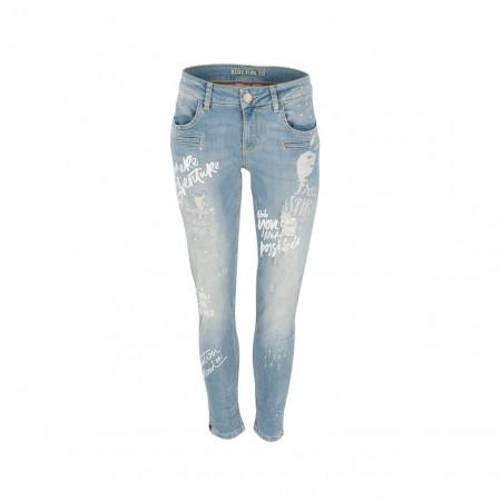 SALE % | Boss Casual | Jeans - Slim Fit - Schriftprint | Blau online im Shop bei meinfischer.de kaufen