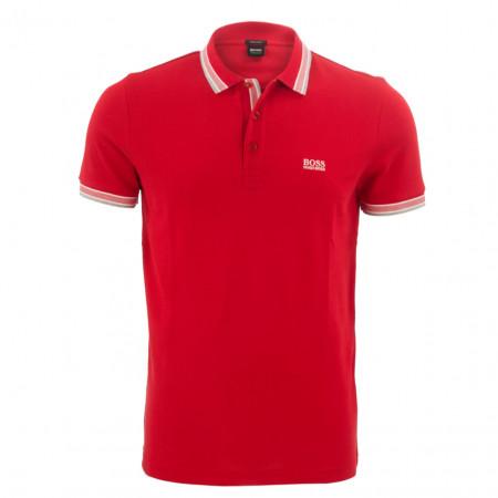 SALE % | Boss Athleisure | Poloshirt mit farbigem Polokragen | Rot online im Shop bei meinfischer.de kaufen