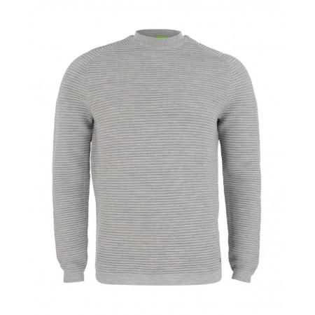 SALE % | Boss Athleisure | Wollpullover in Ripp-Optik | Grau online im Shop bei meinfischer.de kaufen