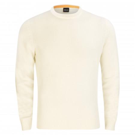 SALE %   Boss Casual   Pullover - Regular Fit - Ambotrevo   Weiß online im Shop bei meinfischer.de kaufen