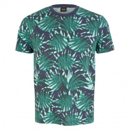 SALE % | Boss Casual | T-Shirt - Regular Fit - Roundneck | Grün online im Shop bei meinfischer.de kaufen
