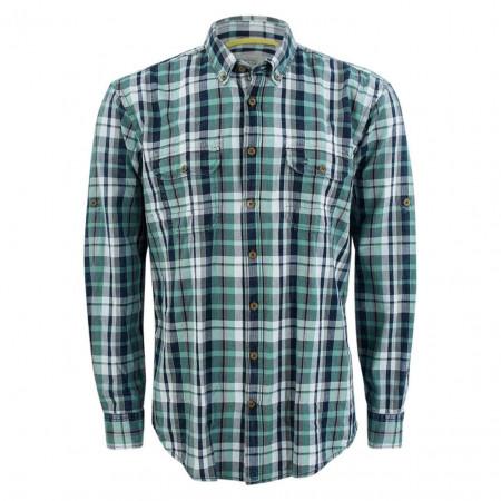 SALE %   camel active   Freizeithemd - Regular Fit - Muster   Blau online im Shop bei meinfischer.de kaufen