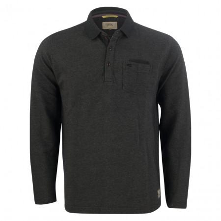 SALE % | camel active | Poloshirt - Modern Fit - Minicheck | Grau online im Shop bei meinfischer.de kaufen
