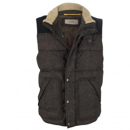 SALE % | camel active | Steppweste - Modern Fit - Fake Fur | Braun online im Shop bei meinfischer.de kaufen