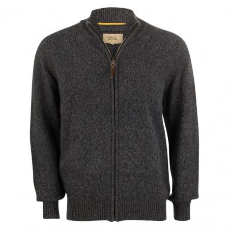 SALE % | camel active | Strickjacke - Regular Fit - Zipper | Grau online im Shop bei meinfischer.de kaufen