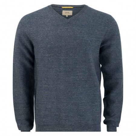 SALE %   camel active   Pullover - Regular Fit - V-Neck   Blau online im Shop bei meinfischer.de kaufen