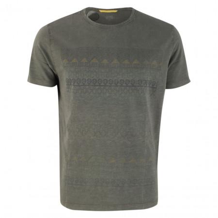 SALE % | camel active | T-Shirt - Regular Fit - Muster | Grau online im Shop bei meinfischer.de kaufen