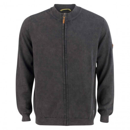 SALE % | camel active | Strickjacke - Regular Fit - Zipper - 37 | Grau online im Shop bei meinfischer.de kaufen