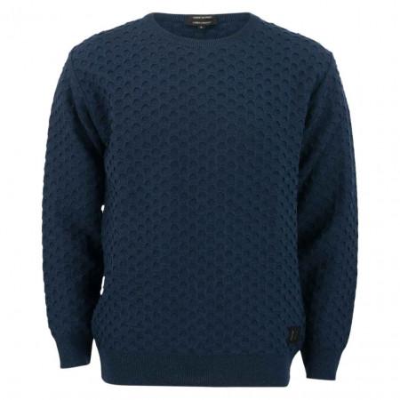 SALE % | Carlo Colucci | Pullover - Regular Fit - Struktur | Blau online im Shop bei meinfischer.de kaufen