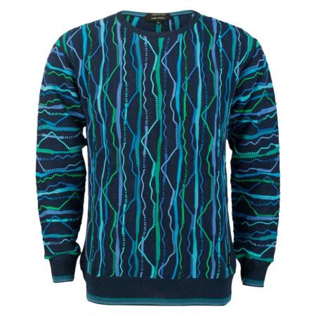 SALE % | Carlo Colucci | Pullover - Regular Fit - Farb-Mix | Blau online im Shop bei meinfischer.de kaufen