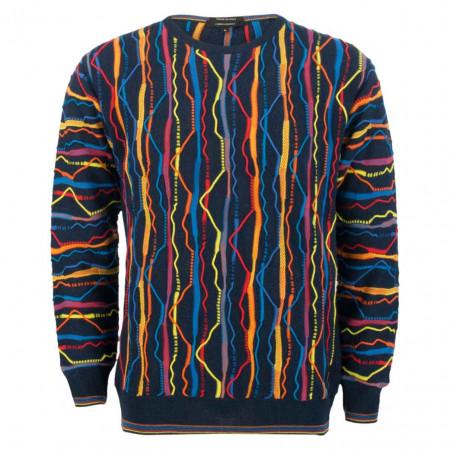 SALE % | Carlo Colucci | Pullover - Regular Fit - Farb-Mix | Bunt online im Shop bei meinfischer.de kaufen
