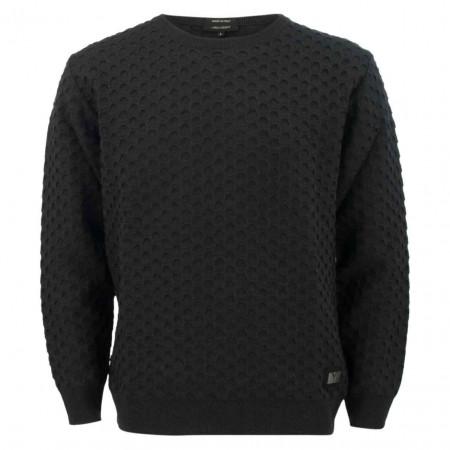 SALE % | Carlo Colucci | Pullover - Regular Fit - Struktur | Schwarz online im Shop bei meinfischer.de kaufen