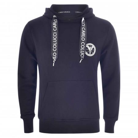 SALE % | Carlo Colucci | Sweatshirt - Comfort Fit - Kapuze | Schwarz online im Shop bei meinfischer.de kaufen