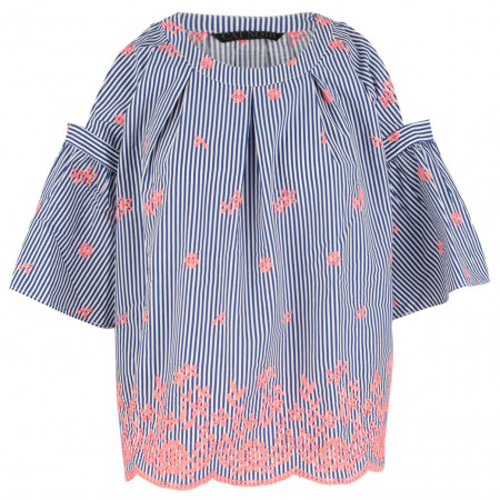 SALE % | CAT NOIR | Bluse - Comfort Fit - 3/4-Arm | Blau online im Shop bei meinfischer.de kaufen