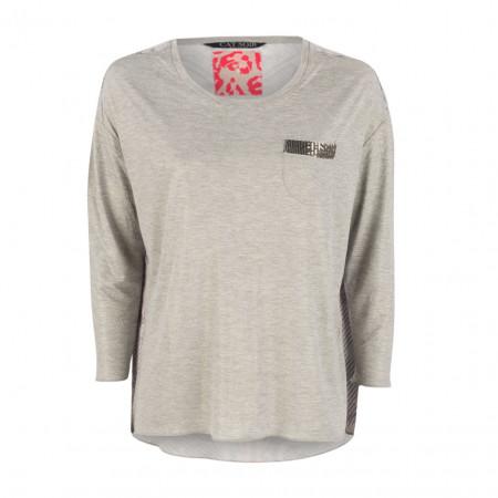 SALE % | CAT NOIR | Shirt - Comfort Fit - Material-Mix | Grau online im Shop bei meinfischer.de kaufen