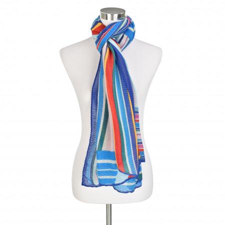 SALE % | Codello Women | Plisseeschal - Muster | Blau online im Shop bei meinfischer.de kaufen