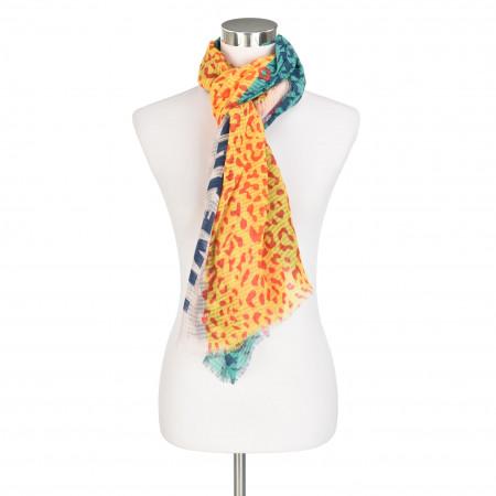 SALE % | Codello Women | Plisseeschal - Muster | Gelb online im Shop bei meinfischer.de kaufen