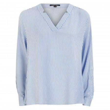 SALE %   comma   Bluse - Loose Fit - Stripes   Blau online im Shop bei meinfischer.de kaufen