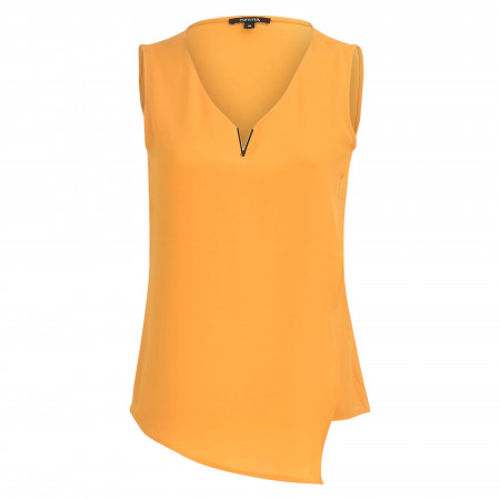 SALE % | comma | Shirt - Loose Fit - ärmellos | Gelb online im Shop bei meinfischer.de kaufen
