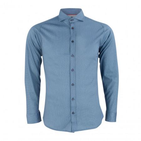 SALE % | Boss Casual | Jerseyhemd - Slim Fit - Print | Blau online im Shop bei meinfischer.de kaufen