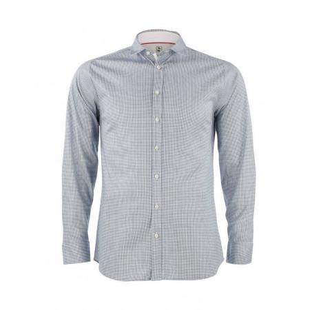 SALE % | Boss Casual | Hemd Modern Kent Jersey Hahnentritt | Blau online im Shop bei meinfischer.de kaufen