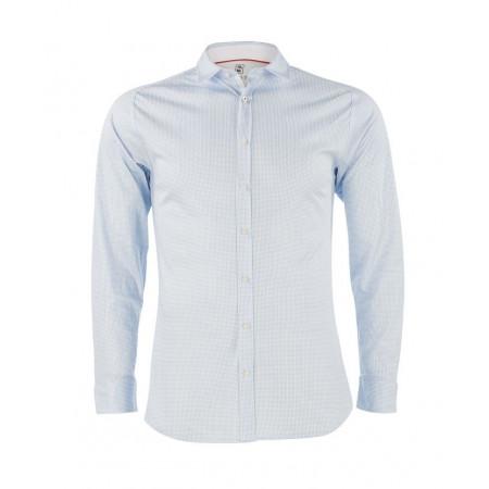 SALE % | Desoto | Hemd Modern Kent Jersey Hahnentritt | Blau online im Shop bei meinfischer.de kaufen