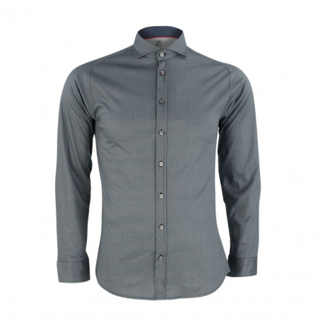 SALE % | Boss Casual | Jerseyhemd - Slim Fit - Print | Grau online im Shop bei meinfischer.de kaufen