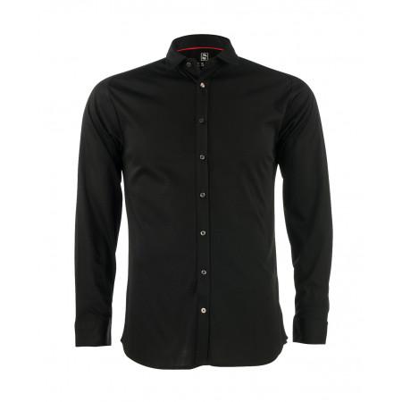 SALE % | Desoto | Hemd Modern Kent Jersey | Schwarz online im Shop bei meinfischer.de kaufen