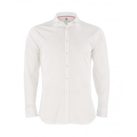SALE % | Desoto | Hemd Modern Kent Jersey | Weiß online im Shop bei meinfischer.de kaufen