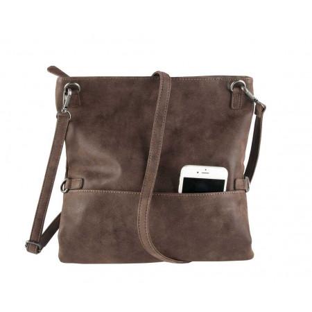 SALE % | Boss Casual | Foldover-Clutch - Zipper - Leder-Optik | Braun online im Shop bei meinfischer.de kaufen