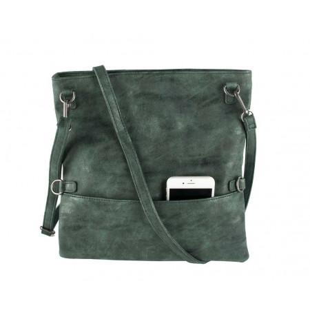SALE % | Boss Casual | Foldover-Clutch - Zipper - Leder-Optik | Grün online im Shop bei meinfischer.de kaufen