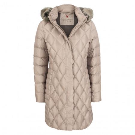 SALE % | Fuchs Schmitt | Daunenjacke - Regular Fit - Fake Fur | Beige online im Shop bei meinfischer.de kaufen