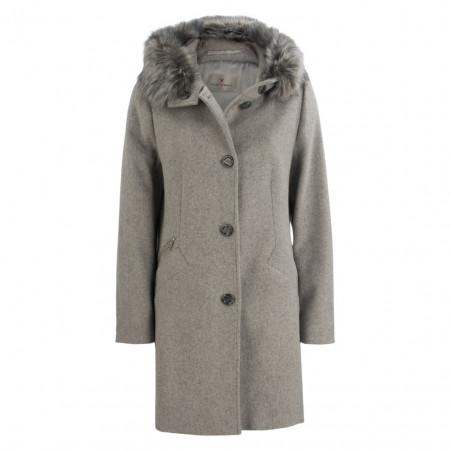 SALE % | Fuchs Schmitt | Wollmantel - Regular Fit - Fake Fur | Grau online im Shop bei meinfischer.de kaufen
