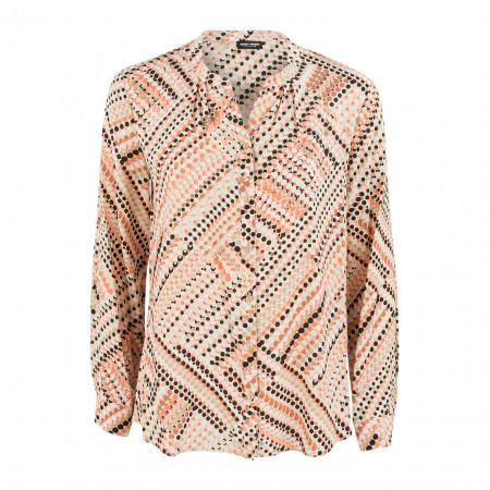 SALE % | Boss Casual | Bluse - Regular Fit - Dots | Orange online im Shop bei meinfischer.de kaufen