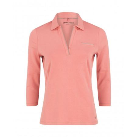 SALE % | Gerry Weber Edition | Poloshirt-Glitzerdekor | Rosa online im Shop bei meinfischer.de kaufen