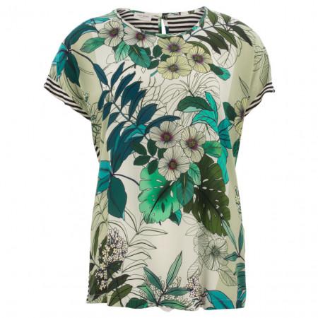 SALE % | Gerry Weber Collection | Blusenshirt - Comfort Fit - Muster-Mix | Grün online im Shop bei meinfischer.de kaufen