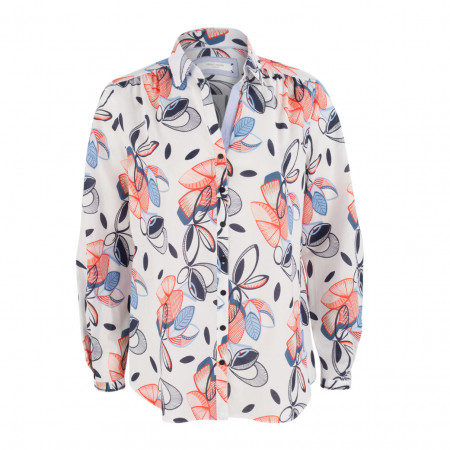 SALE % | Gerry Weber Casual | Hemdbluse - Regular Fit - Muster | Bunt online im Shop bei meinfischer.de kaufen