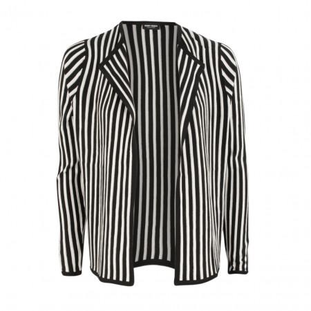 SALE % | Boss Casual | Strickjacke - Regular Fit - Stripes | Schwarz online im Shop bei meinfischer.de kaufen