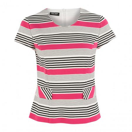 SALE % | Boss Casual | Jerseyshirt - Slim Fit - Stripes | Pink online im Shop bei meinfischer.de kaufen