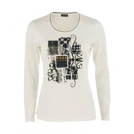 SALE % | Gerry Weber Collection | Longsleeve Print | Weiß online im Shop bei meinfischer.de kaufen