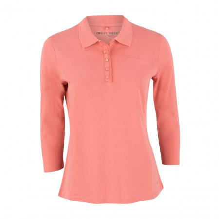 SALE %   Gerry Weber Edition   Poloshirt - fitted - 3/4-Arm   Rosa online im Shop bei meinfischer.de kaufen