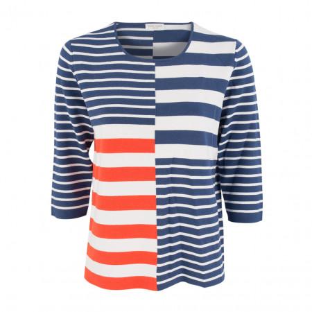 SALE % | Gerry Weber Casual | Pullover - Regular Fit - Stripes | Blau online im Shop bei meinfischer.de kaufen