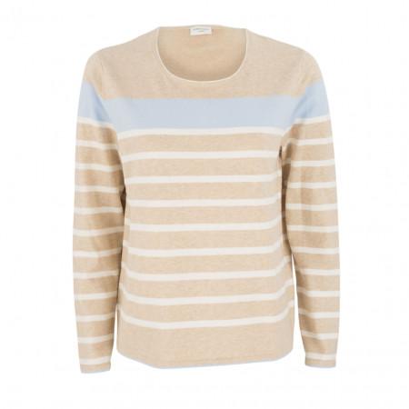 SALE % | Boss Casual | Pullover - Regular Fit - Stripes | Beige online im Shop bei meinfischer.de kaufen