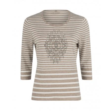 SALE % | Gerry Weber Edition | Pullover-Stripes | Beige online im Shop bei meinfischer.de kaufen