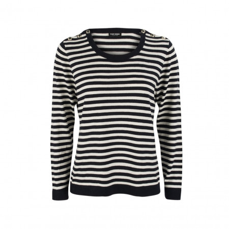 SALE %   Boss Casual   Pullover - Regular Fit - Stripes   Schwarz online im Shop bei meinfischer.de kaufen