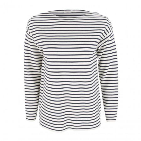 SALE % | Boss Casual | Pullver - Regular Fit - Stripes | Weiß online im Shop bei meinfischer.de kaufen